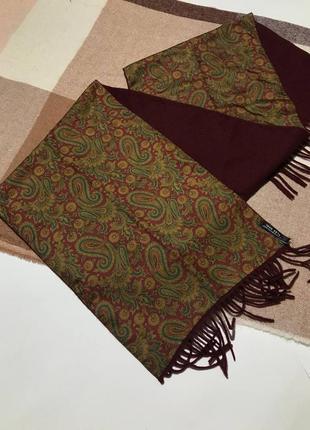 Мужской двухсторонний шарф шёлк кашемир , шёлковый шарф , кашемировый шарф