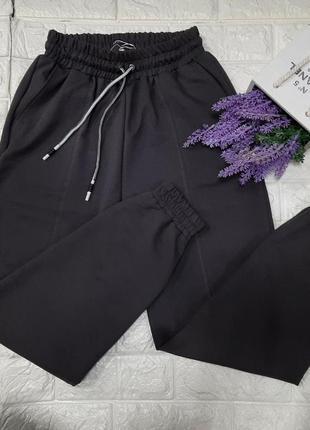 Женские спортивные штаны джогеры на резинке