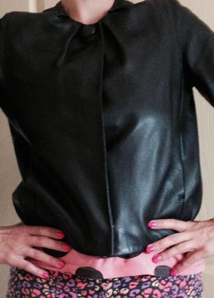 Кожанная куртка mango, s