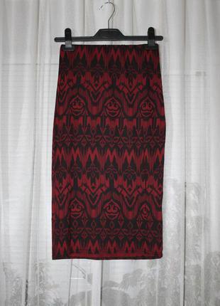 Юбка миди в ацтекский принт, new look, размер xs-m