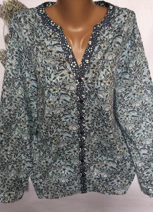 Стильная  батистовая рубашка laura ashley