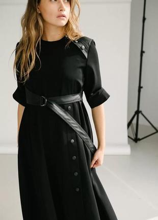 Очень стильное креативное платье осень-весна