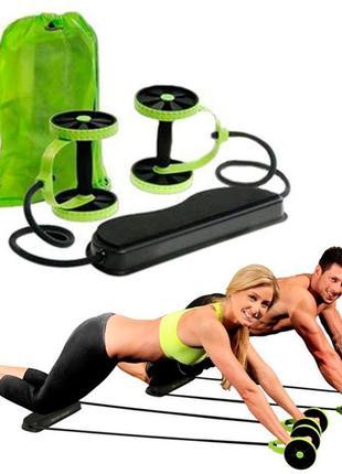 Тренажер revoflex xtreme для всего тела! 40 упражнений! роликовый