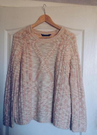 Бело-розовый свитер dorothy perkins