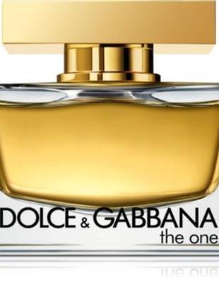 "Eau de parfum ""the one"" by d&g (dolce & gabbana), 30 ml."