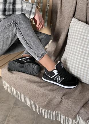 Женские чёрные замшевые кроссовки nike