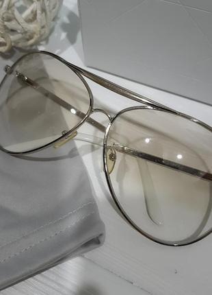 Полупрозрачные очки авиаторы , копы, италия