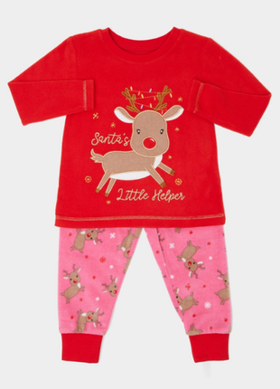Флисовая пижамка dunnes stores для девочек на 2-3,3-4года