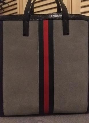 Стильна замшева сумка в стилі gucci3 фото