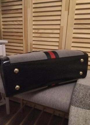 Стильна замшева сумка в стилі gucci5 фото