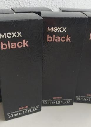 Mexx black woman (мекс блэк) оригинал германия туалетная вода 30 мл