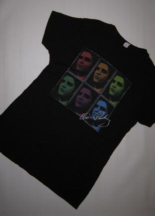 Черная футболка с элвисом пресли