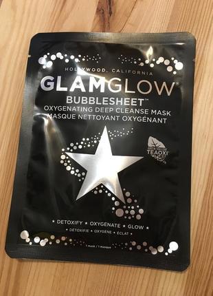Кислородная очищающая маска glamglow bubblesheet oxygenating deep cleanse mask оригинал