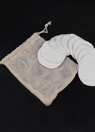Многоразовые тканевые эко диски, коттон, бамбук.  экологичные эко спонжи