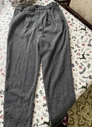 Супер брюки шерсть высокая посадка zara