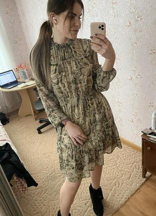 Шифоновое шикарное платье reserved 38