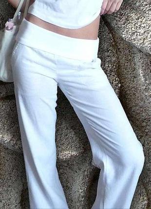 Белые льняные брюки. частые пополнения! смотрите мои объявления!
