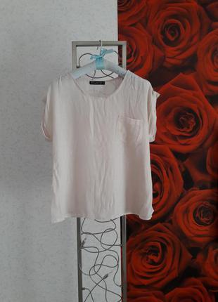Легкая блуза кроп топ цвета нюд