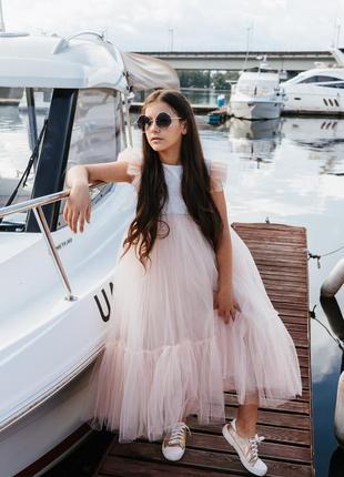 Платье для девочки нарядное цвет пудра мия-2