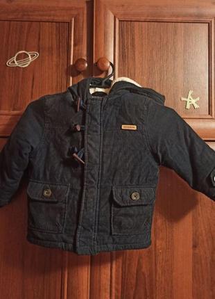 Куртка теплая,зима,турция,lc waikiki от 9 месяцев до 2 лет.
