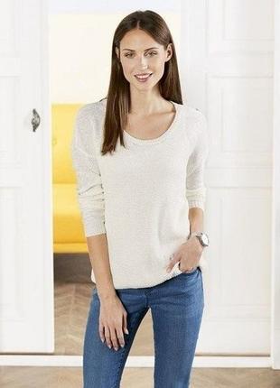 Стильный пуловер-джемпер ленточная пряжа esmara евро 44-46