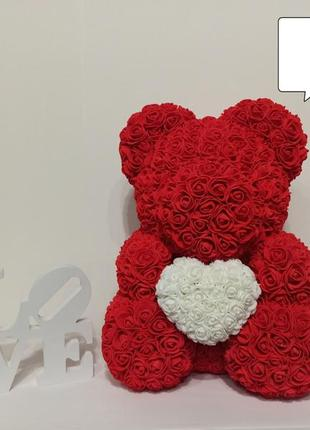 Мишка тедди из 3d роз