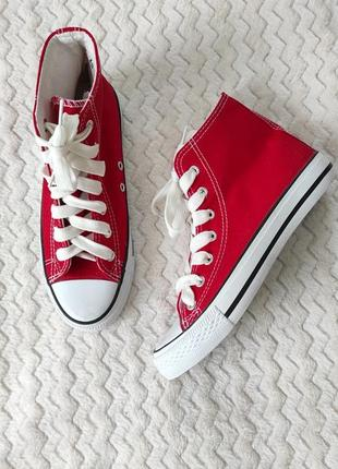 Кросівки високі кеди кроссовки высокие кеды в стиле converse all star
