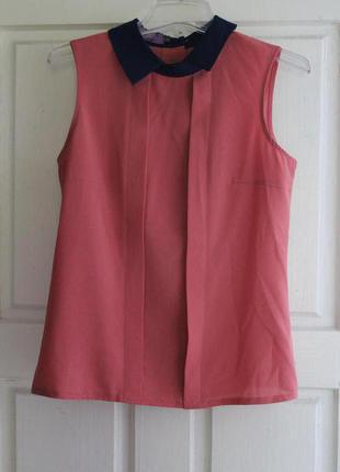Коралловая нарядная блуза