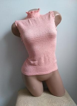 Гольф резинка. топ. футболка американка. розовый, пудровый, коралловый.