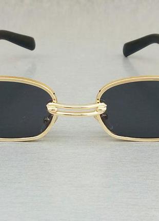 Gentle monster очки солнцезащитные унисекс модные черные в золоте с сережкой