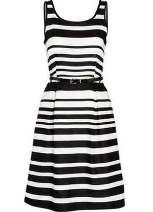 Льняное платье в полоску f&f размер 14