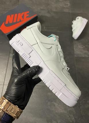 Nike air force 1 pixel ghost aqua (голубой) 36-37-38-39-40