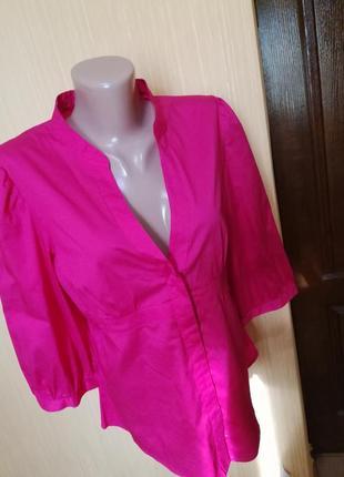 Малиновая блуза-рубашка