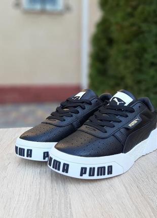 Puma cali🆕шикарные женские кроссовки🆕черно-белые кожаные кеды пума🆕жіночі кросівки🆕весна9 фото
