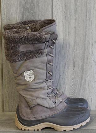 Теплые, непромокаемые и актуальные кожаные зимние сапоги на овчине dockers footwear 38-39