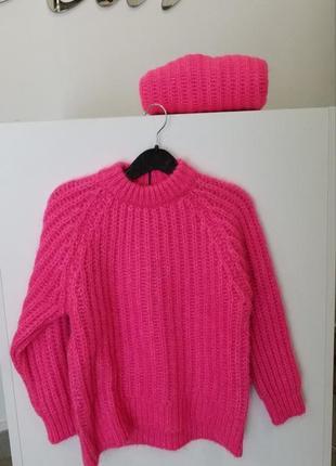 Теплый детский вязаный свитер zara
