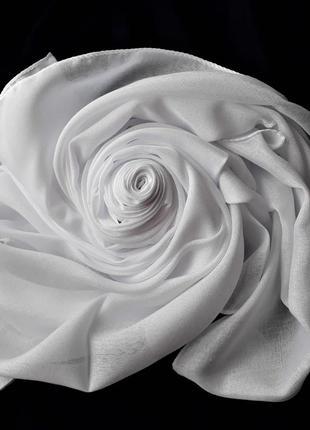 Платок женский цвет белый турецкий