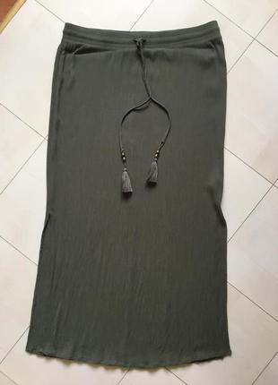 Стильная ,длинная , брендовая юбка большого размера- 16 - 18 + наш - 52 - 54