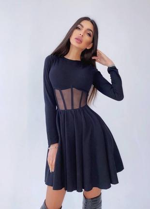 Платье с корсетной вставкой2 фото