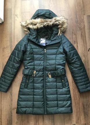 Стеганая куртка с поясом vero moda