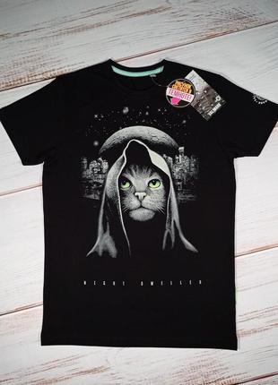 Мужская футболка чоловіча кот