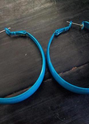 Синие серьги h&m1