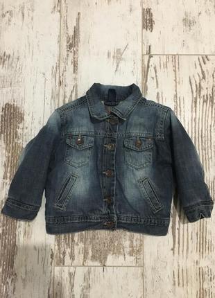 Джинсовая куртка на подкладке zara baby