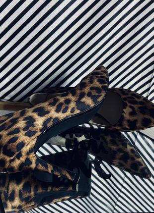 Мега крутые леопардовые туфельки лодочки