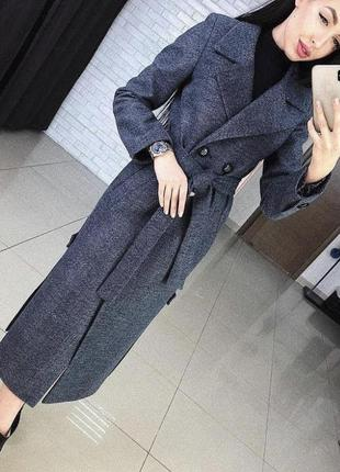 Шикарное элегантное классическое осеннее пальто