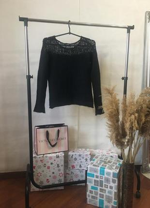 Мохеровый шерстяной чёрный свитерок от asos2 фото