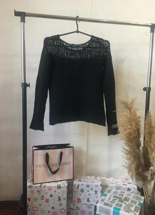 Мохеровый шерстяной чёрный свитерок от asos