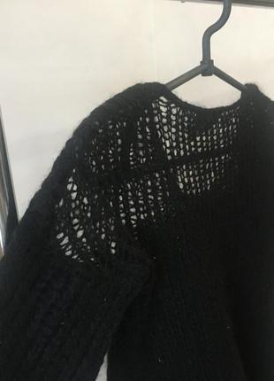 Мохеровый шерстяной чёрный свитерок от asos4 фото