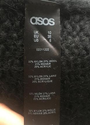 Мохеровый шерстяной чёрный свитерок от asos6 фото