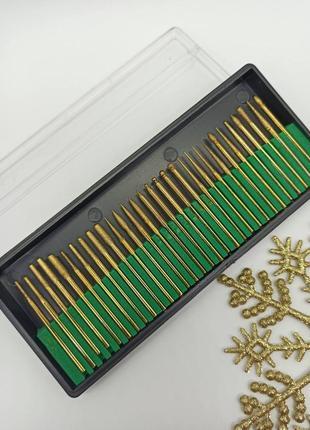 Набор алмазных золотистых фрез в контейнере